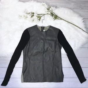 [Helmut Lang] Smooth Hide Leather Top